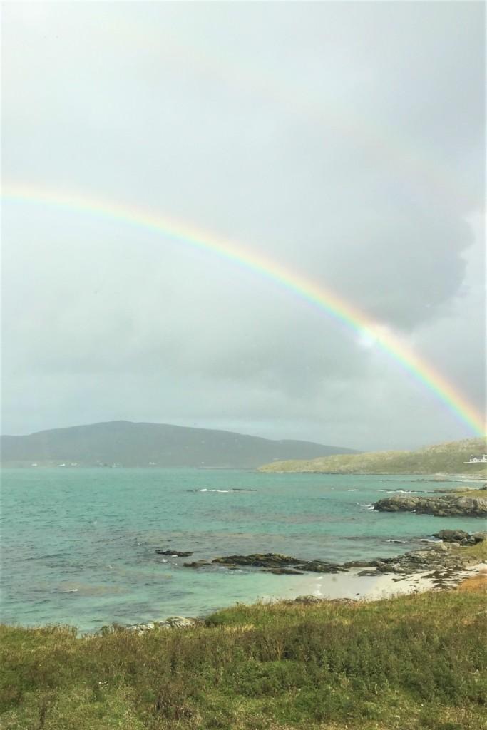 Regenbogen über die Insel Eriskay