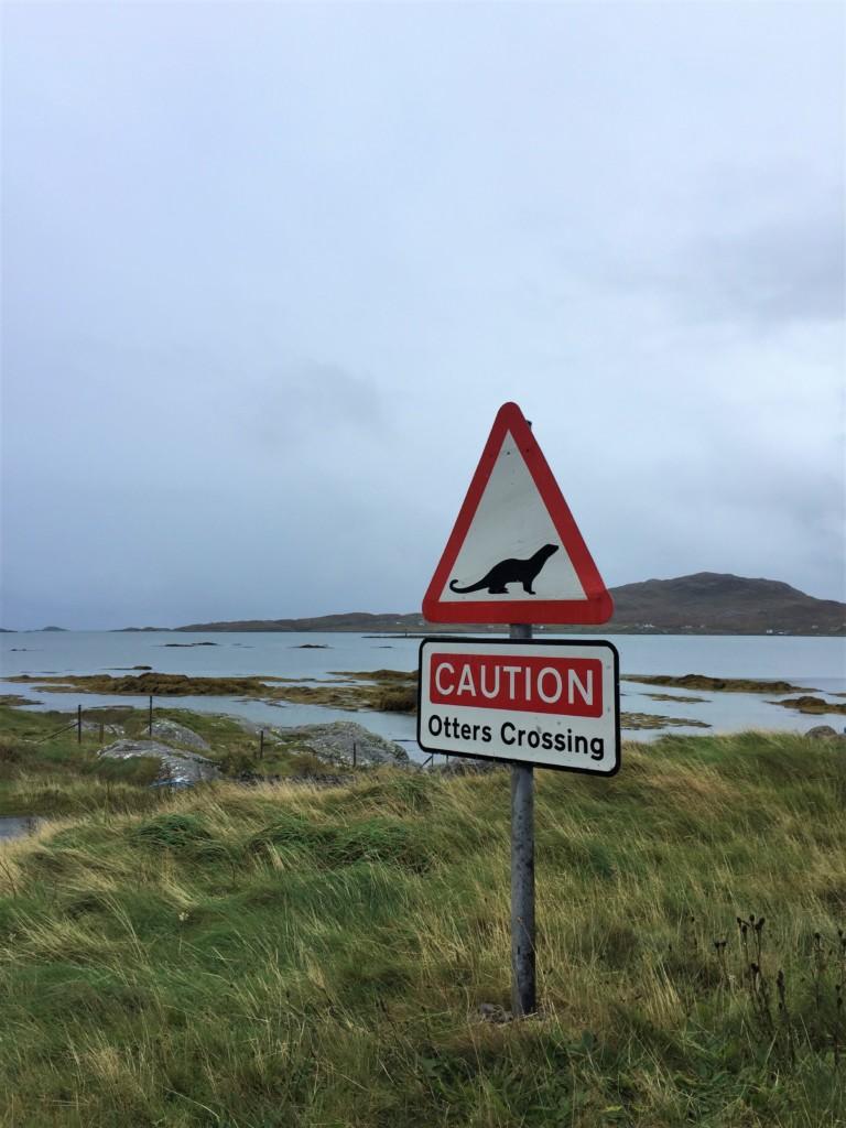 Gefahrenschild Achtung vor Otter!