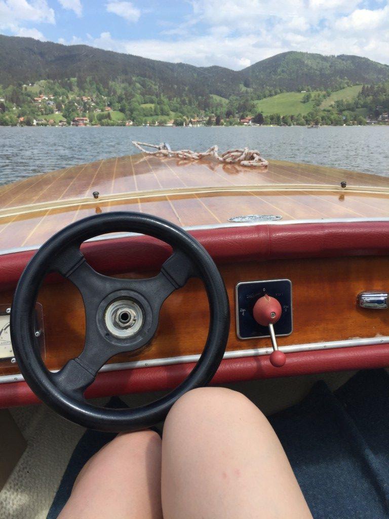 Boot fahren am Schliersee