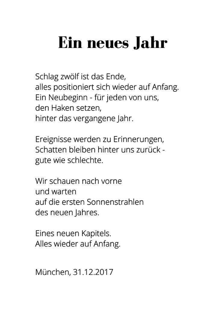 silvester gedicht