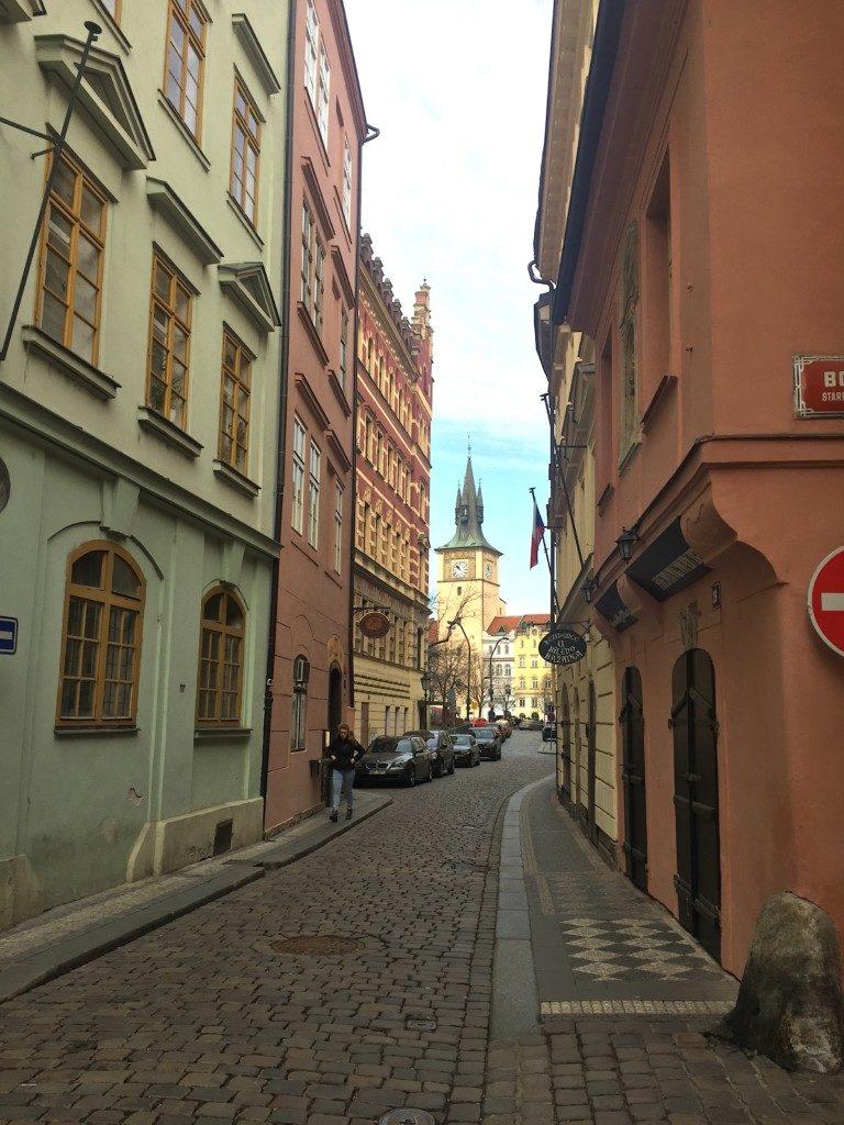 historische Straße in Prag